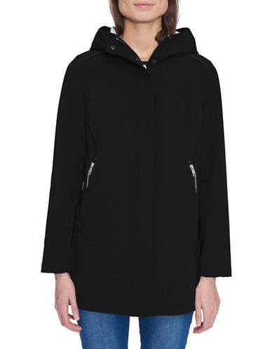 London Fog Long-Sleeve Soft Shell Fleece Jacket-BLACK-Medium 89814837_BLACK_Medium