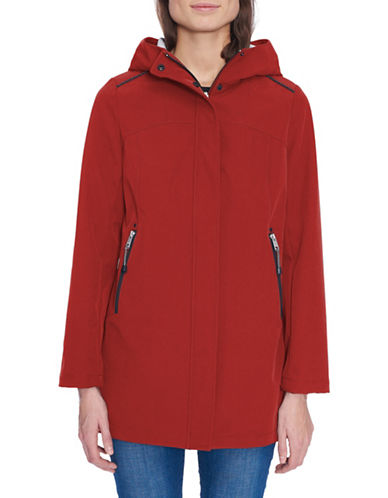 London Fog Long-Sleeve Soft Shell Fleece Jacket-RED-Medium 89814842_RED_Medium