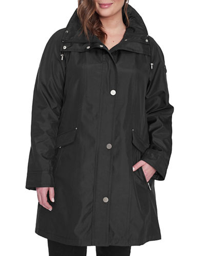 London Fog Plus Iridescent Bonded Jacket-BLACK-3X