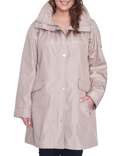 London Fog Plus Iridescent Bonded Jacket-NUDE-1X