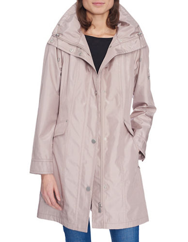 London Fog Iridescent Bonded Jacket-NUDE-X-Small