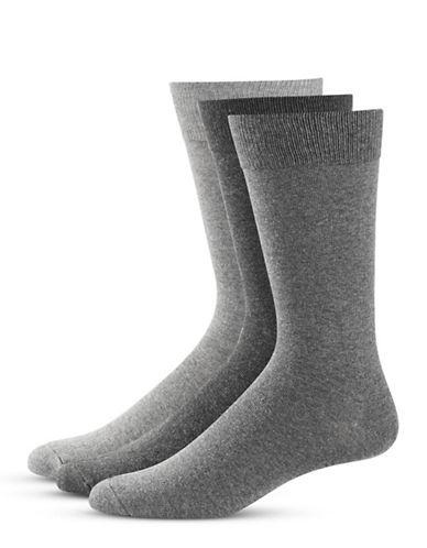 Black Brown 1826 Three-Pack Classic Socks-GREY-7-12