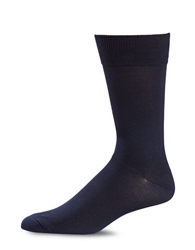 Black Brown 1826 Classic Crew Socks-BLUE-7-12