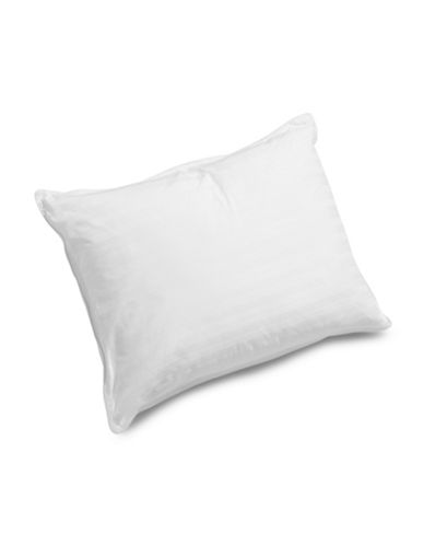 Glucksteinhome Down Wrap Firm Support Pillow-WHITE-King