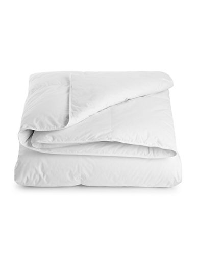 Fairmont White Down Medium Weight Duvet-WHITE-Queen