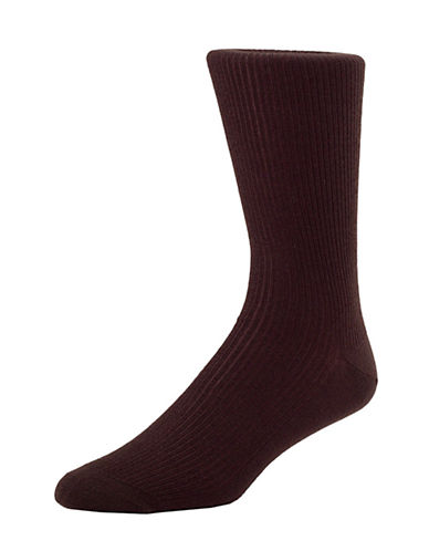 Mcgregor Mens Wool Non-Elastic Crew Socks-BROWN-7-12
