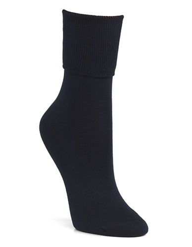 Mcgregor Mercerized Cotton-Blend Socks-NAVY-One Size