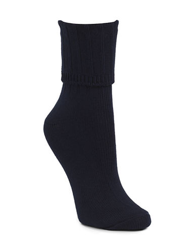 Mcgregor Classic Cotton-Blend Crew Socks-NAVY-One Size