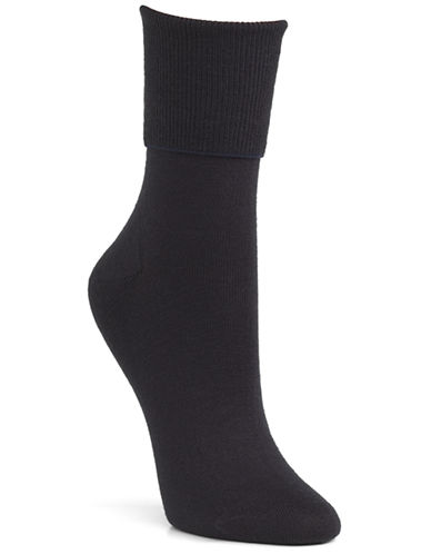 Mcgregor Wool turn down cuff crew sock-NAVY-One Size