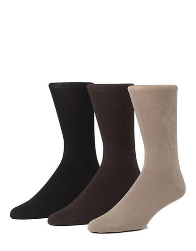 Mcgregor Mens Three-Pack Mercercized Cotton Crew Socks-ASSORTED-7-12