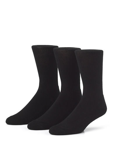 Mcgregor Mens Three-Pack Comfort Crew Socks-CHARCOAL-7-12