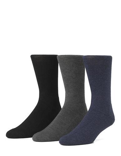 Mcgregor Mens Three-Pack Comfort Crew Socks-BLACK-7-12