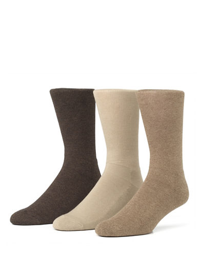 Mcgregor Mens Three-Pack Comfort Crew Socks-BEIGE-7-12
