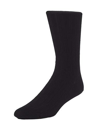 Mcgregor Mens Premium Stretch Cotton Socks-BLACK-7-12
