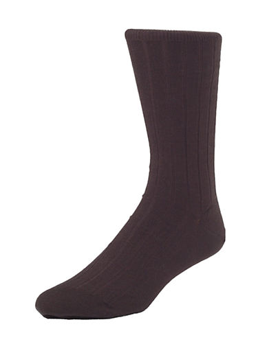 Mcgregor Mens Premium Stretch Cotton Socks-BROWN-7-12
