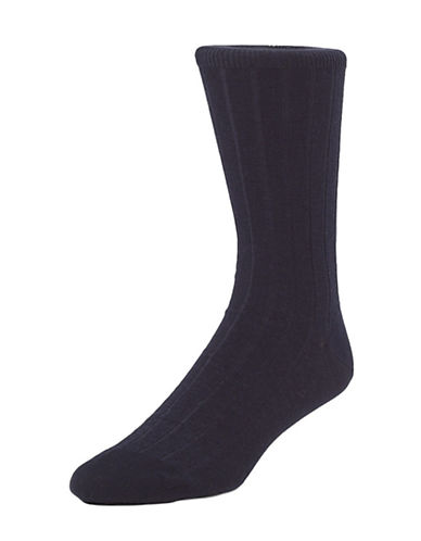 Mcgregor Mens Premium Stretch Cotton Socks-NAVY-7-12