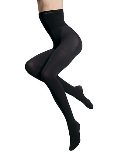 Calvin Klein High Waisted Opaque Shaper Tight-BLACK-B