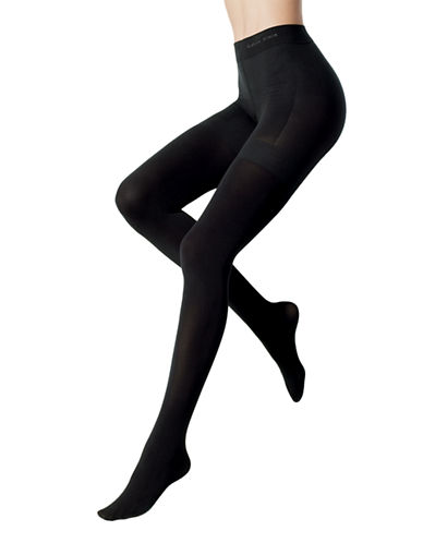 Calvin Klein Calvin Klein Ultra Fit Shine Shaper Tights-BLACK-Large