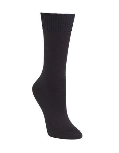 Mcgregor Wool flat knit crew sock-NAVY-One Size