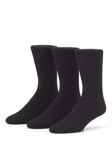 Mcgregor Mens Non Binding Crew Socks Three-Pack-BLACK-7-12