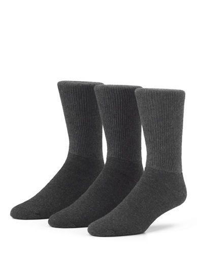 Mcgregor Mens Non Binding Crew Socks Three-Pack-GRAPHITE-7-12