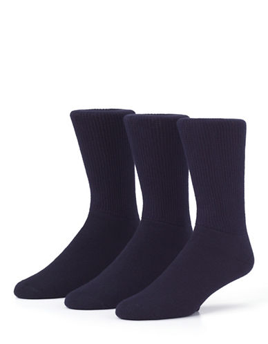 Mcgregor Mens Non Binding Crew Socks Three-Pack-NAVY-7-12