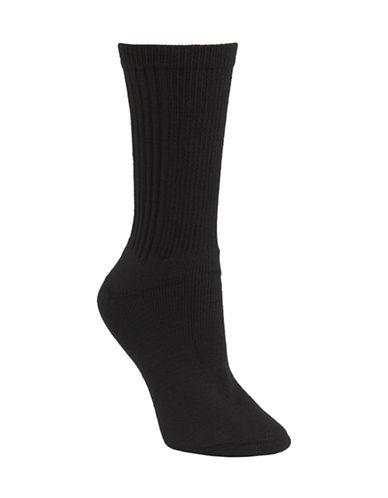 Mcgregor Wool and Cotton Walking Crew Sock-BLACK-One Size