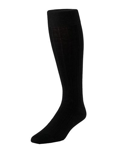 Mcgregor Mens Premium Cotton Dress Executive Length Socks-BLACK-7-12