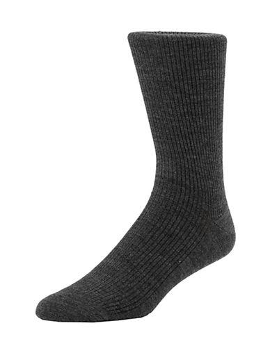 Mcgregor Mens Wool Non-Elastic Crew Socks-GREY-7-12