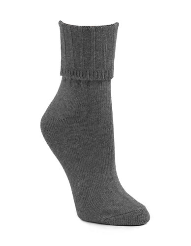 Mcgregor Classic Cotton-Blend Crew Socks-CHARCOAL-9-11