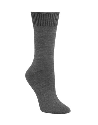 Mcgregor Wool flat knit crew sock-CHARCOAL-One Size
