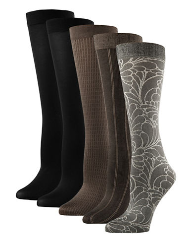 Mcgregor 5pk pattern knee high trouser sock-ASSORTED-One Size