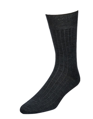 Mcgregor Merino Wool-Mens Merino Wool-Blend SocksSocks-CHARCOAL-7-12
