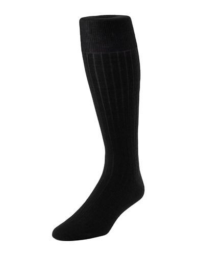 Mcgregor Mens Merino-Blend Executive Length Socks-NAVY-7-12