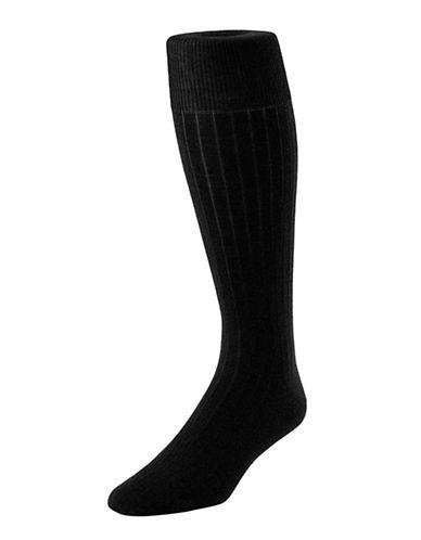 Mcgregor Mens Merino-Blend Executive Length Socks-BLACK-7-12