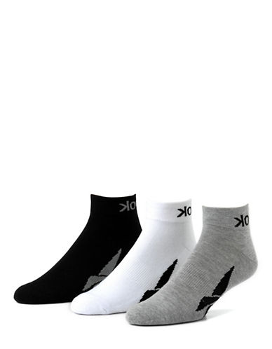 Reebok 3-Pack Vector Quarter Length Sport Socks-BLACK-10-13 85502468_BLACK_10-13