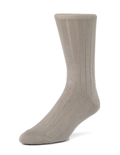 Mcgregor Mens Premium Stretch Cotton Socks-TAUPE-7-12