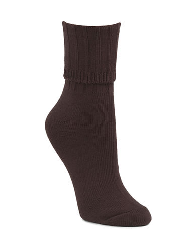 Mcgregor Classic Cotton-Blend Crew Socks-CHOCOLATE-One Size