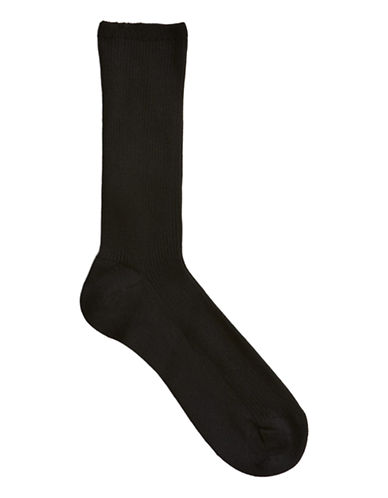 Mcgregor Mercerized Ribbed Socks-BLACK-One Size