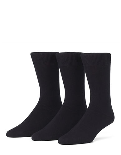 Mcgregor Mens Three-Pack Small Size Flat Knit Socks-CHARCOAL-6-9