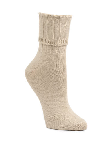 Mcgregor Classic Cotton-Blend Crew Socks-DARK BEIGE-One Size