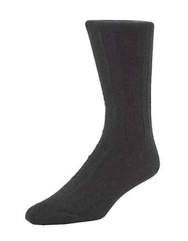 Mcgregor Mens Premium Stretch Cotton Socks-CHARCOAL-7-12