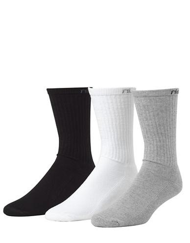 Calvin Klein 3-Pack Athletic Crew Socks-GREY-7-12