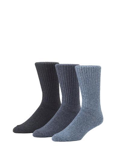 Calvin Klein Mens Three-Pack Ribbed Socks-GREY-7-12