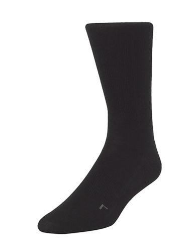 Calvin Klein Mens Ergonomic Fit Socks-BLACK-7-12