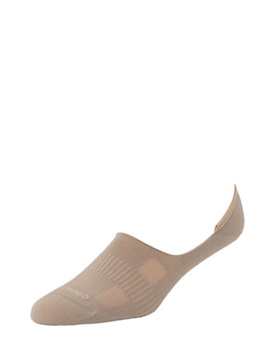 Calvin Klein Mens Techcool No Show Liners-TAUPE-7-12