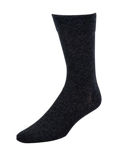 Mcgregor Mens Non-Binding Flat Knit Crew Socks-GREY-7-12