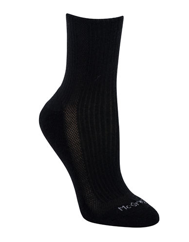 Mcgregor McGregor Cushion Sole Ribbed Crew-BLACK-One Size