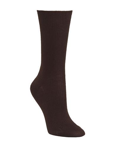 Mcgregor Mercerized Ribbed Socks-BROWN-One Size