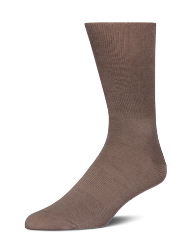 Calvin Klein Mens Ergonomic Fit Socks-BEIGE-7-12